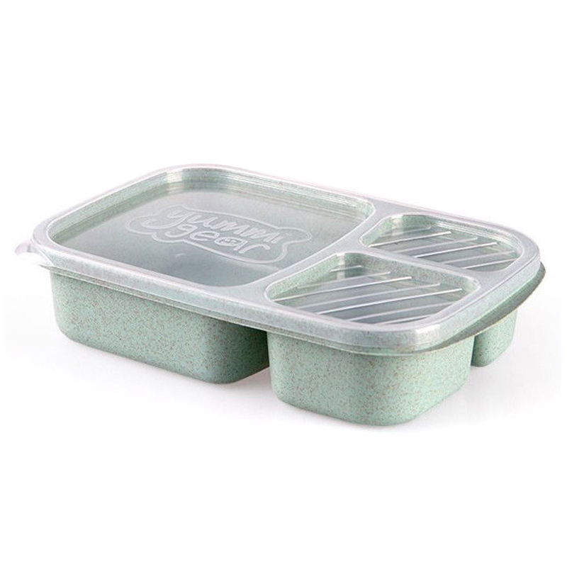 Wheat Non-pollution Bento Lunch Box Picnic Food Container Storage Box