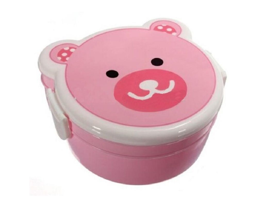 New Children Lunch Box 2 Layer Cute Animal Bento Box Food Container