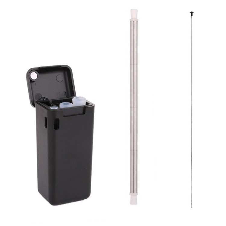 Stainless Steel Metal Straw Reusable Collapsible Drinking Straw